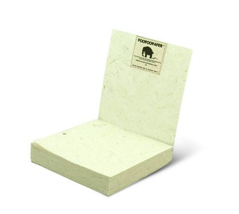 PooPoo Paper - Think Big Elephant Scratch Pad - Made of Recycled Elephant Poo