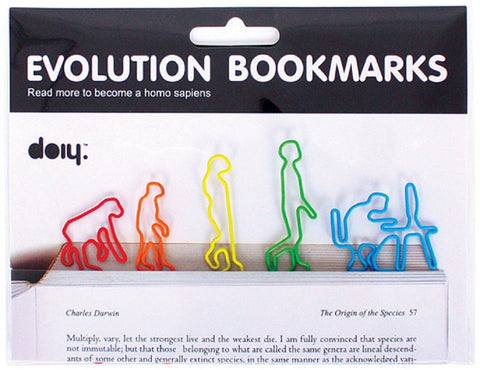Evolution Bookmarks - Set of 5 Page Marking Clips
