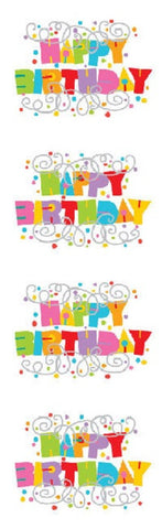 Mrs Grossman's Stickers - Expressions Happy Birthday - Foil Accent