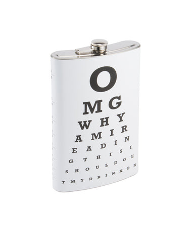 XXL 64oz Stainless Steel Flask With Funny Eye Chart
