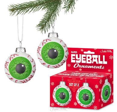 Eyeball Christmas Tree Ornaments (Set of 2)