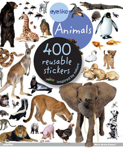 Eyelike Sticker Book: Animals Around the World w/400 Reusable Stickers