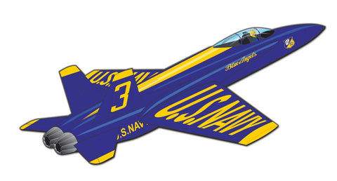 3-D Nylon 40 Inch Wind 'N Sun Wind Force Blue Angels Plane - F-18 Hornet Kite