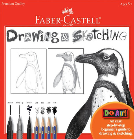 Kids Do Art Drawing and Sketching Kit - Childrens Beginners Guide