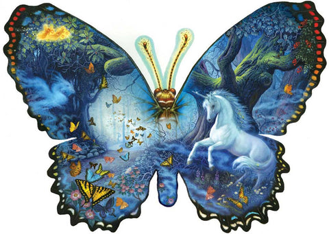 Fantasy Butterfly - Custom Shaped Jigsaw Puzzle - 1000 pc