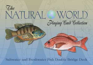 SALTWATER& FRESHWATER FISH of the Natural World Playing Cards-Double Deck
