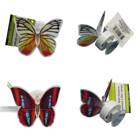 Free Gift of Fiber Optic Butterflies Window Ornament - Set of 2 with Purchase of $25.00 of Higher - One Gift Per Order