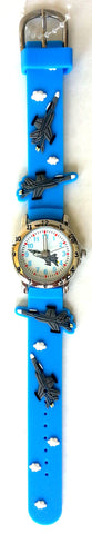The Kids Watch Company Fighter Jet Watch One Size Blue Band