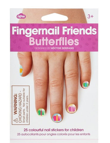 Fingernail Friends - Butterflies - Pack of 25 Insect Nail Stickers