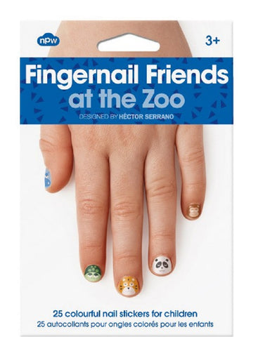 Fingernail Friends - At The Zoo - Pack of 25 Animal Nail Stickers
