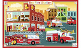 Fire Station - Activity Placemat by Tot Talk