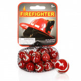 FireFighter Game Net Set 25 Piece Glass Mega Marbles