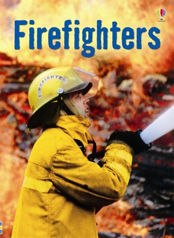 FIREFIGHTERS - Usborne Beginners Reader Book Ages 6+