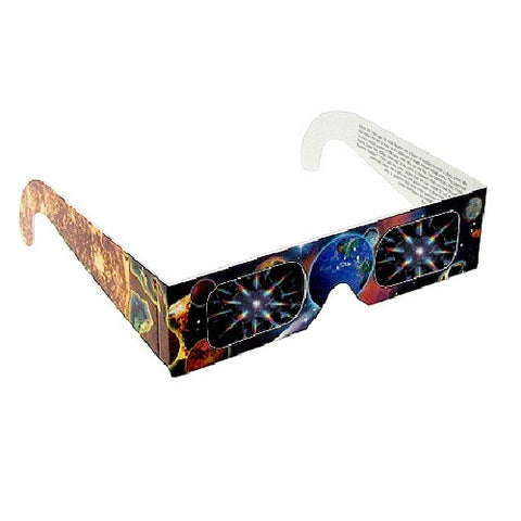 Pack of 10 Fireworks Glasses w/ Earth and Planet Design