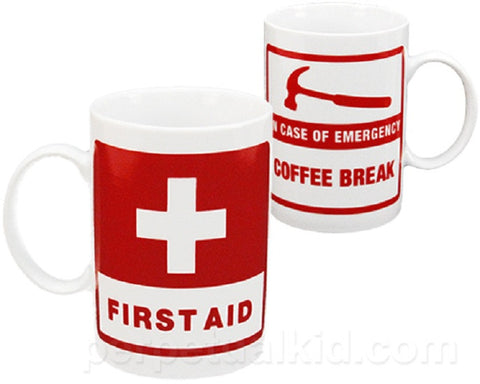 Ceramic First Aid Coffee Mug - Tea Cup