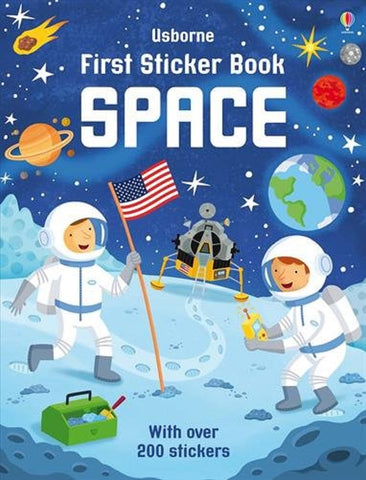 First Sticker Book: Space - A Paperback Sticker & Activity Book by Usborne