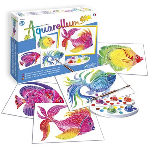 Aquarellum Junior - Fish - Watercolor Paint Set by SentoSphere