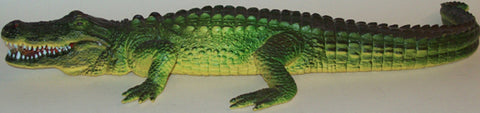 15.5 Inch Realistic Rubber Reptile Replica - American Alligator - Online Science Mall
