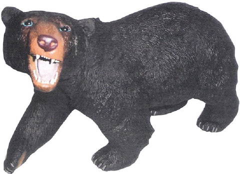 "13"" Realistic Rubber Bear Replica - Black Bear"