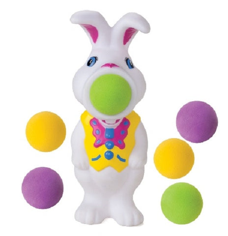 Bunny Popper Rabbit Shaped Foam Ball Toy Shooter with 6 Foam Balls