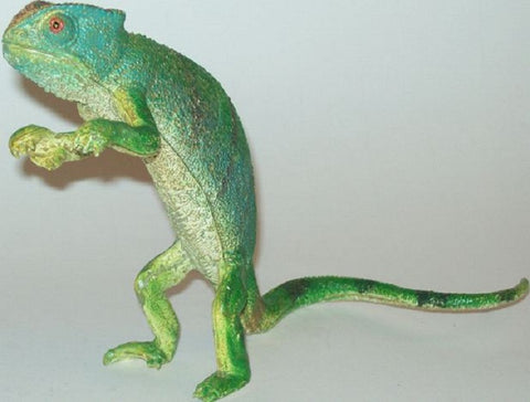 8 Inch Realistic Rubber Lizard Replica - Common Chameleon