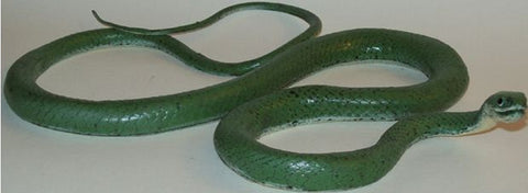 46+ Inch Realistic Rubber Snake Replica - Green Grass Snake