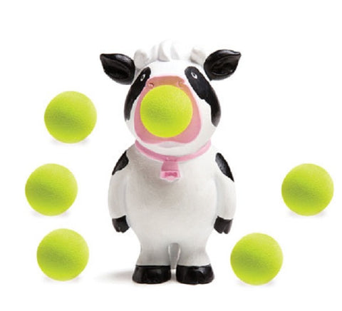 Moo Popper Cow Shaped Foam Ball Toy Shooter with 6 Foam Balls