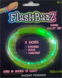 FlashBanz Designz Light Up Bracelet - Green with Smiley Faces