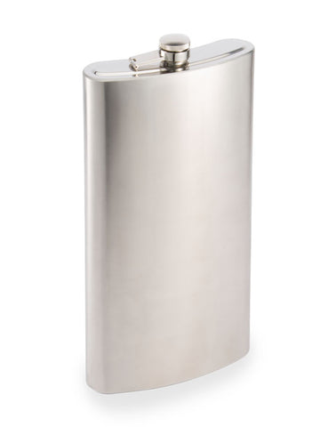One Gallon XXL Liquor Flask - Stainless Steel Silver Drinking Barware