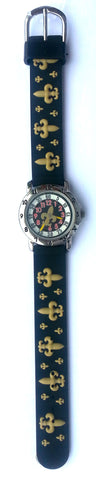 The Kids Watch Company Fleur De Lis Watch One Size Black Band