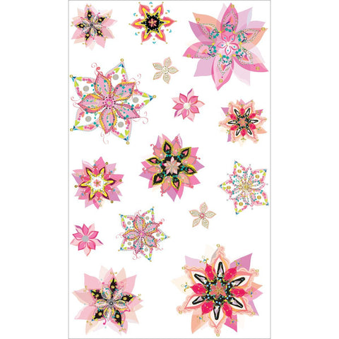 Mrs Grossman's Stickers Flower Fancy w/Foil Accents