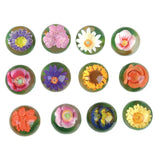 3D Flower Balls Styles and Colors Vary - Pack of 12