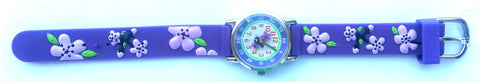 The Kids Watch Company Flowers Watch One Size Purple Band