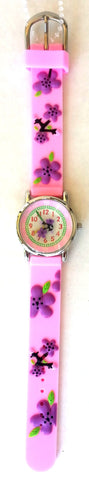 The Kids Watch Company Flowers Watch One Size Pink Band