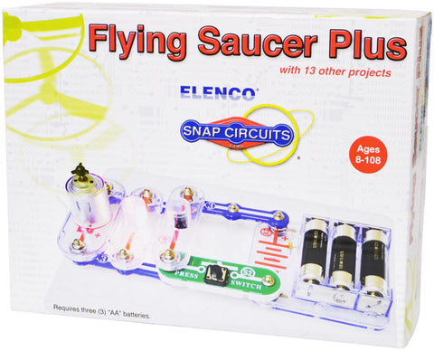 Snap Circuits Flying Saucer Kit w/14 Projects by Elenco