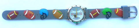 The Kids Watch Company Football Watch One Size Grey Band