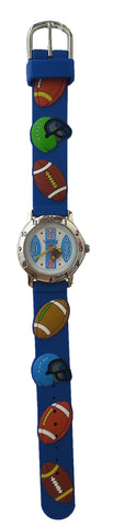 The Kids Watch Company Football Watch Blue Band