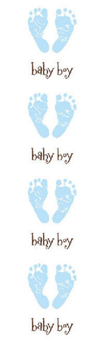 Mrs Grossman's Stickers - Baby Blue Footprints