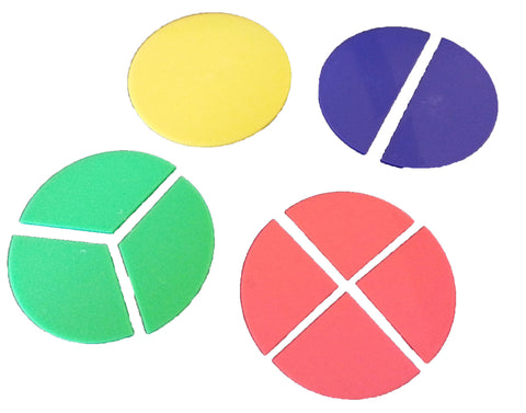 Set of 3.5 Inch Fraction Circles - 51 Piece Math Educational Teaching Aid