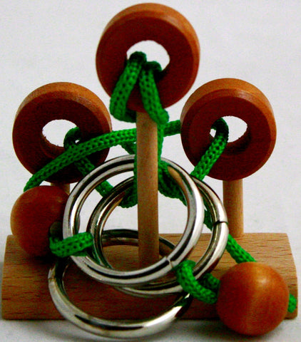 Streamline Free The Ring Mini Loops Wooden Rope Puzzle- Level Dilemma