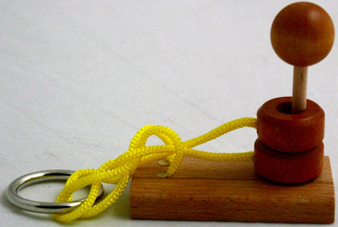 Streamline Free The Ring Mini Boat Wooden Rope Puzzle- Level Challenging