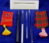 Static Electricity Friction Rod Set for Physics & Electrostatic Demonstrations