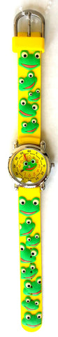The Kids Watch Company Frogs Watch One Size Yellow Band
