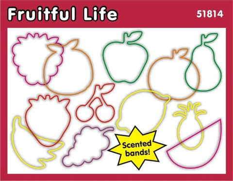 Fruitful Life: Faith Bands Scented Rubber Band Bracelets 12pk