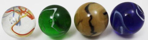 Mega Marble ToeBreaker Grab Bag - Set of 4 Jumbo 2 Inch Glass Marbles