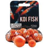 Koi Fish Game Net Set 25 Pc Glass Mega Marbles