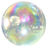 "Massive Iridescent Glass ""Soap Bubble"" Marble - 42mm - by House of Marbles w/Stand"