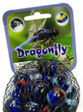 Dragonfly Game Net Set 25 Piece Glass Mega Marbles