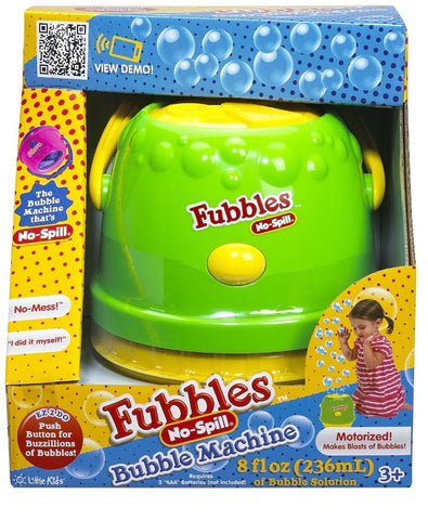 Pastel Green Fubbles No-Spill Bubble Machine By Little Kids