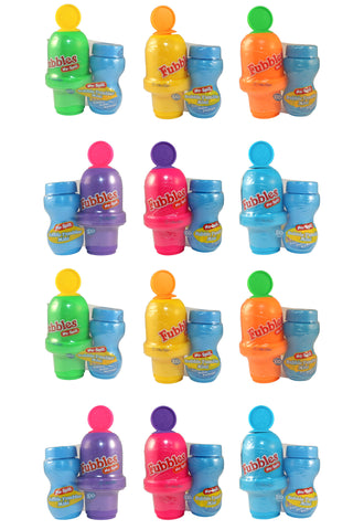 Fubbles No-Spill Bubble Tumbler Minis Pastel Colors (12 Pack)